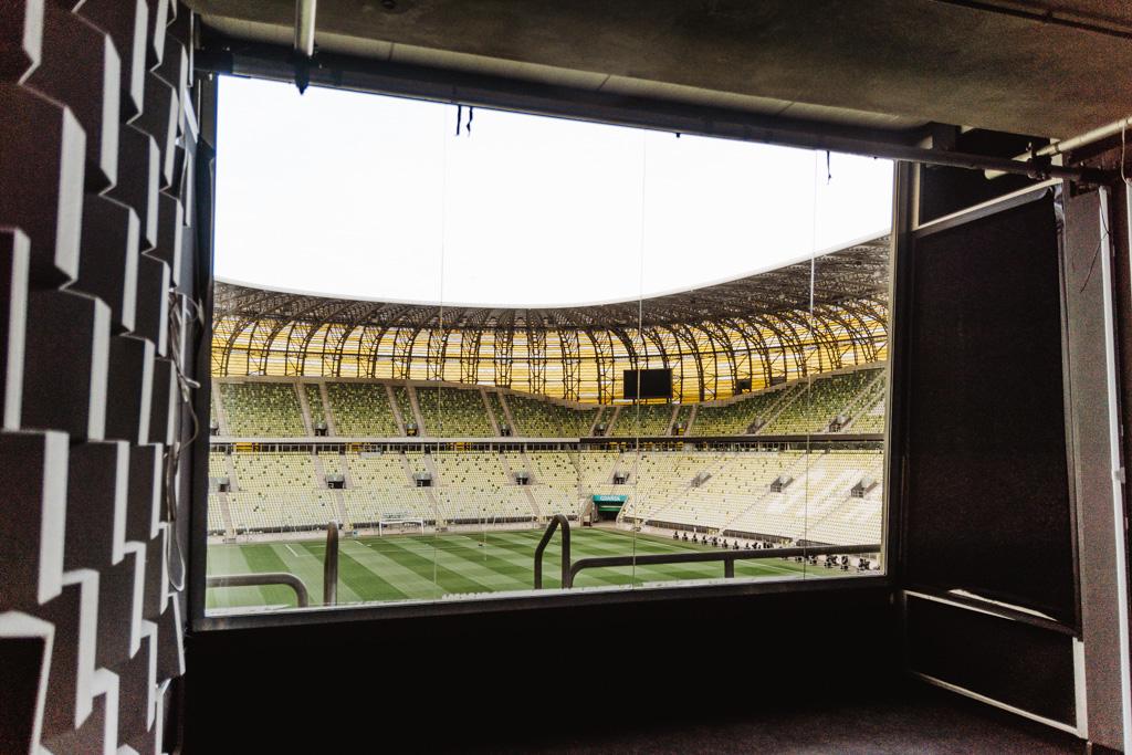 Zwiedzanie Stadionu Gdańsk, Polsat Plus Arena Gdańsk, studio komentatorskie