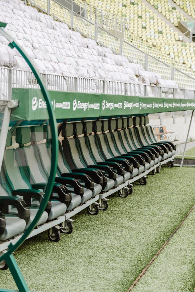 Zwiedzanie Stadionu Gdańsk, Polsat Plus Arena Gdańsk, ławka rezerwowych