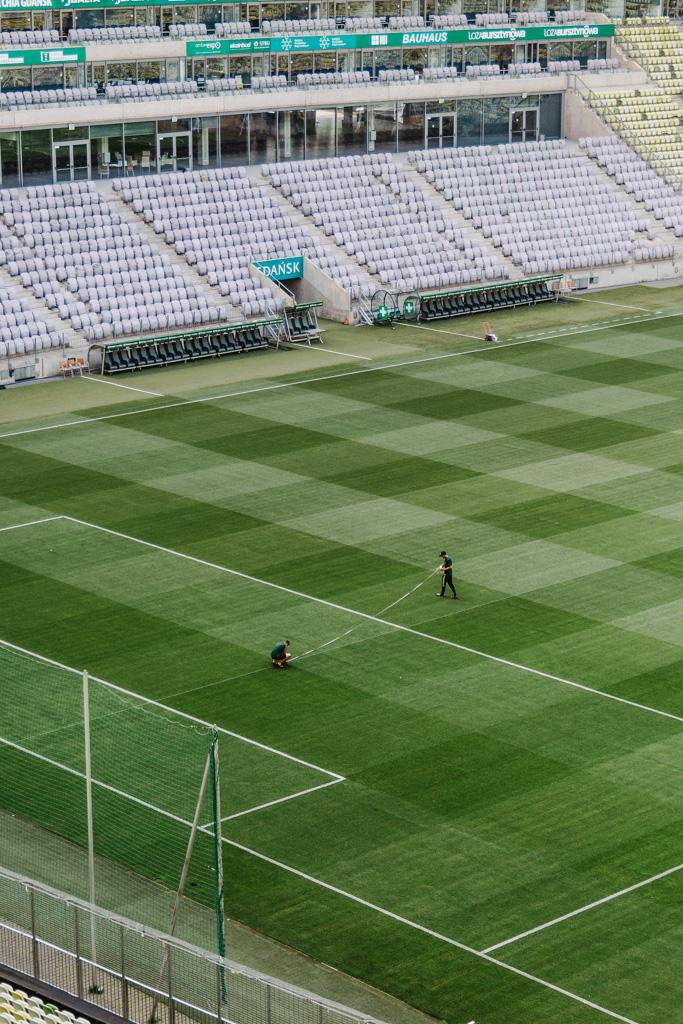 Zwiedzanie Stadionu Gdańsk, murawa i konserweacja