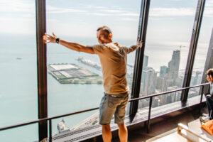 360 Chicago Observatory Deck. Wchodzimy na taras widokowy w Chicago!
