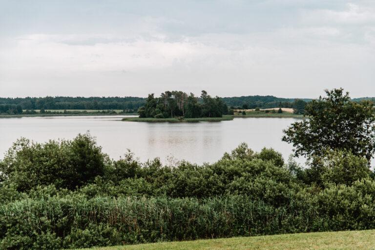 Jezioro Grażymowskie, wyspa, Wodna Farma